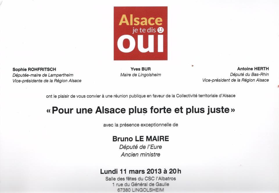 Réunion publique avec Bruno LE MAIRE 11-03-13