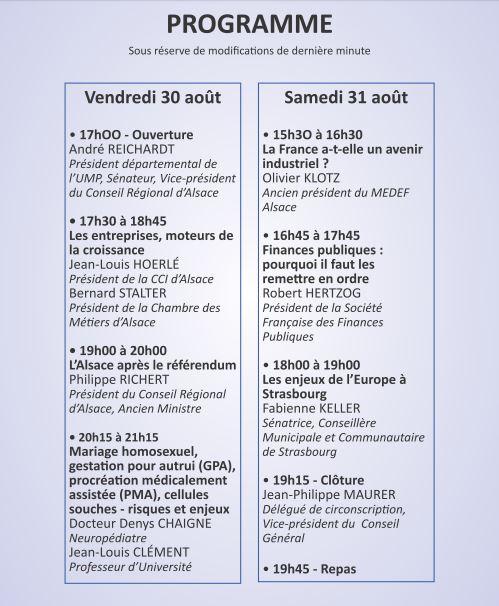Programme Université Ete Circo2 JPM 2013