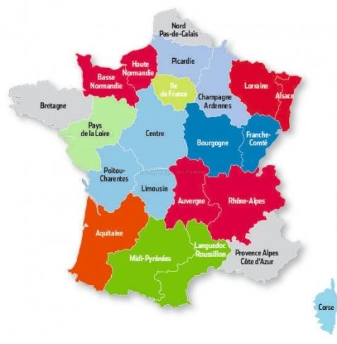 Nouvelle Carte des Régions