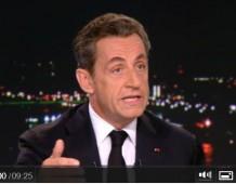 Intervention de Nicolas SARKOZY au journal de 20H de TF1