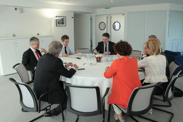 Reunion Sarkozy chefs de file regionaux ES a